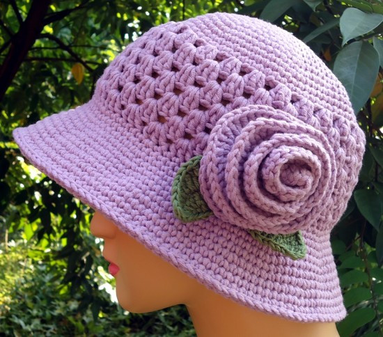 Awesome Crochet Cloche Hats the Best Free Collection Crochet Flowers for Hats Free Patterns Of Luxury 25 Best Ideas About Crochet Hats On Pinterest Crochet Flowers for Hats Free Patterns