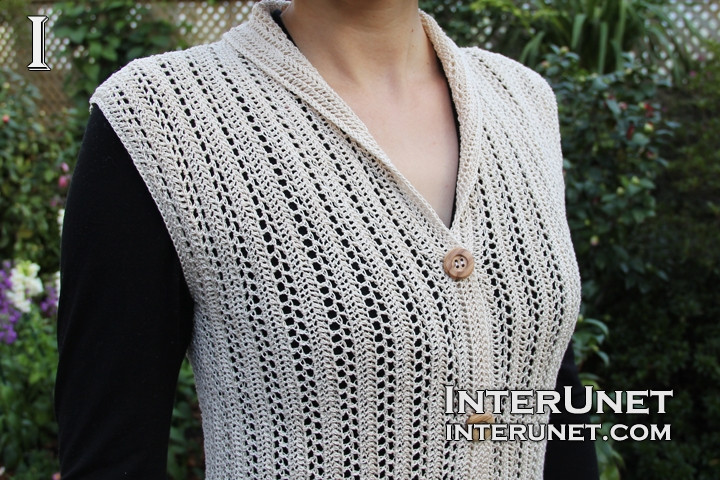 Awesome Crochet Collar button Up Vest Womens Crochet Vest Of Amazing 47 Pics Womens Crochet Vest