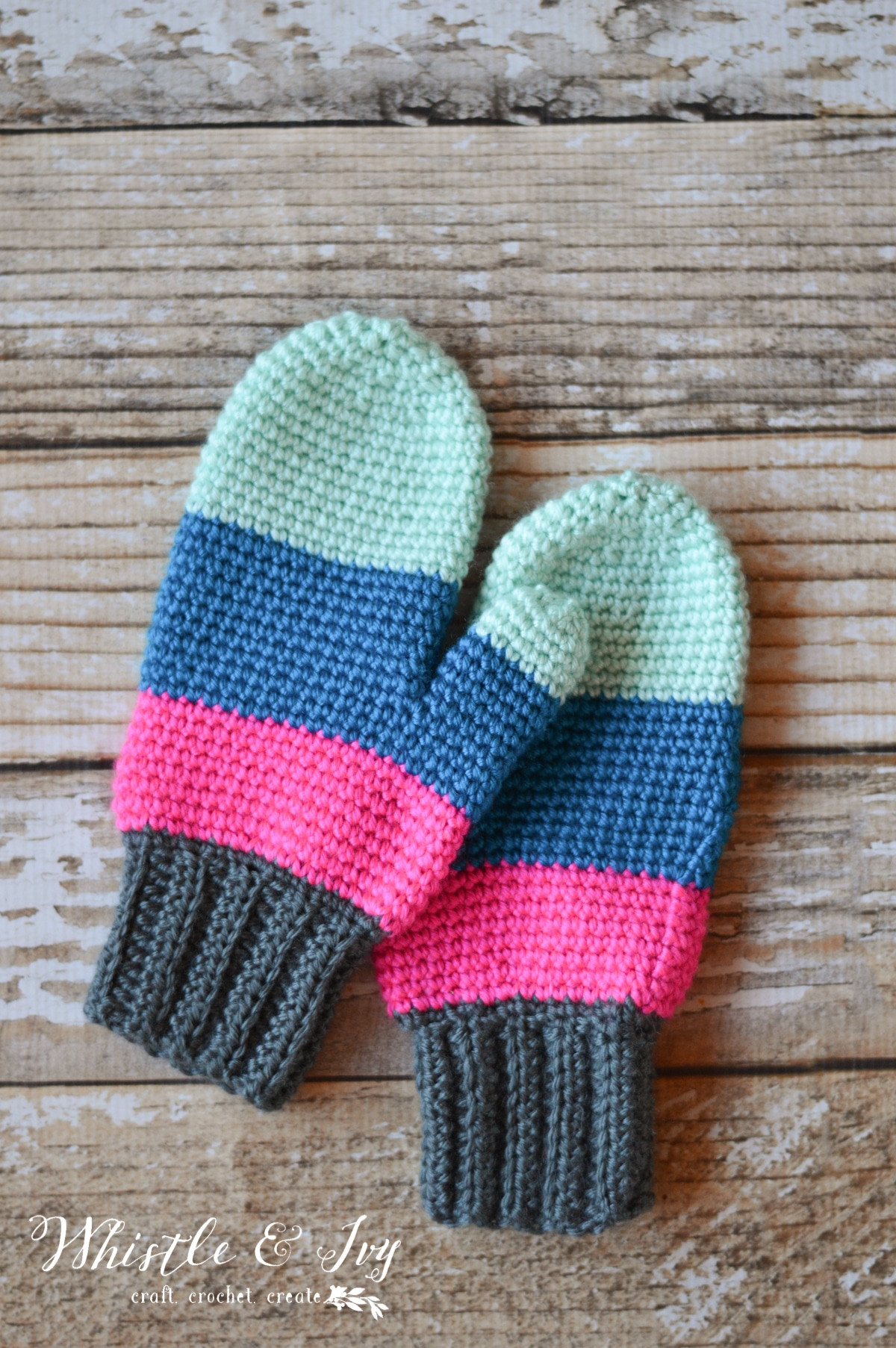Awesome Crochet Color Block Mittens Whistle and Ivy Crochet Mitten Pattern Of Marvelous 50 Ideas Crochet Mitten Pattern