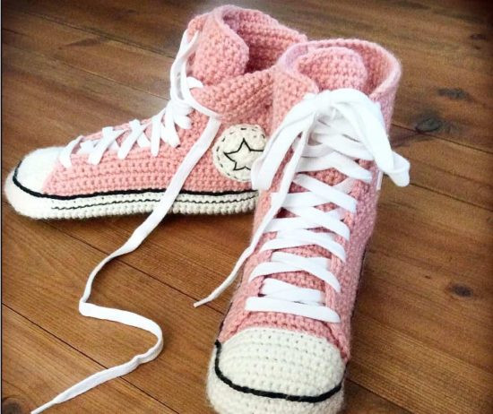 Awesome Crochet Converse Slippers Free Pattern Video Tutorial Crochet Converse Booties Of Innovative 41 Models Crochet Converse Booties