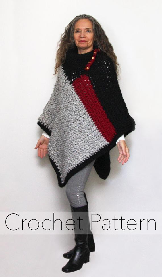 Awesome Crochet Crochet Poncho Pattern Womens Chunky Color Block Cool Ponchos Of Luxury 46 Pics Cool Ponchos