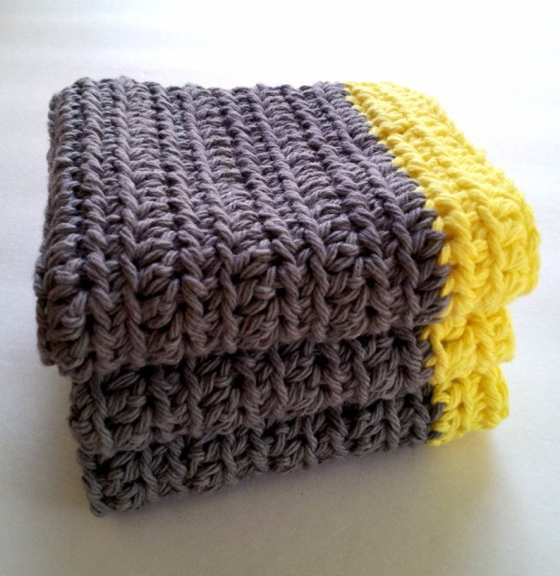Awesome Crochet Dish Cloths Set Of 3 Wash Cloths Gray with Crochet Dish Rags Of Top 42 Models Crochet Dish Rags