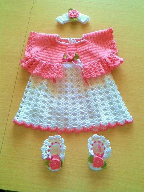 Crochet Dress Beby Girl very easy stylish and cute