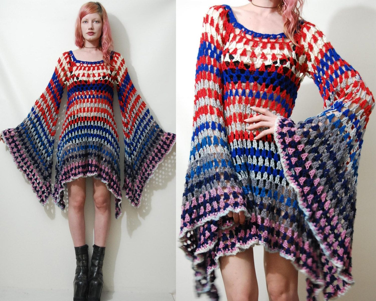 Awesome Crochet Dress Vintage Colourful Granny Square Bell by Crochet Fashion Of Adorable 43 Photos Crochet Fashion
