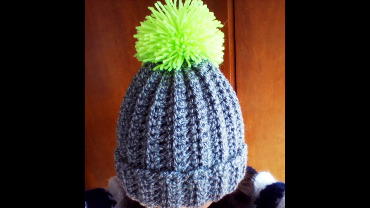 Awesome Crochet Easy Ribbed Pom Pom Hat Crochet Pom Pom Hat Pattern Of Fresh 48 Pics Crochet Pom Pom Hat Pattern