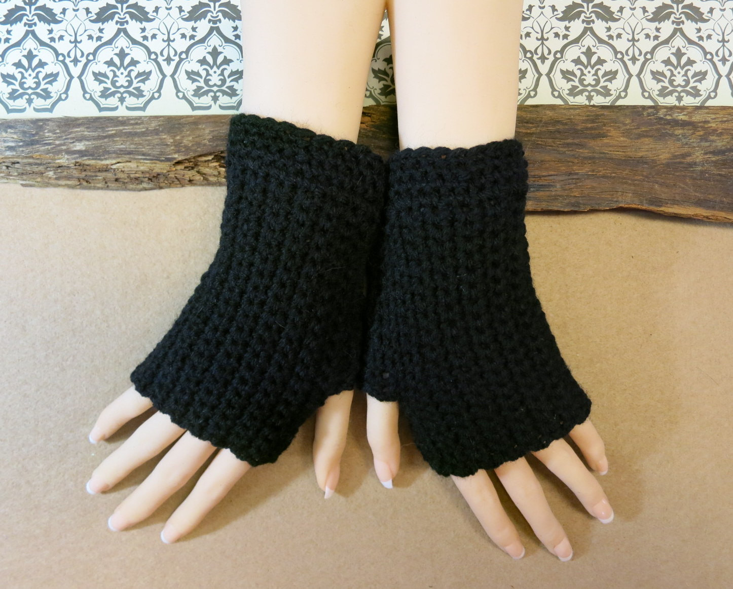 Awesome Crochet Fingerless Gloves Wrist Warmers Black Arm Warmers Crochet Arm Warmers Of Gorgeous 44 Images Crochet Arm Warmers