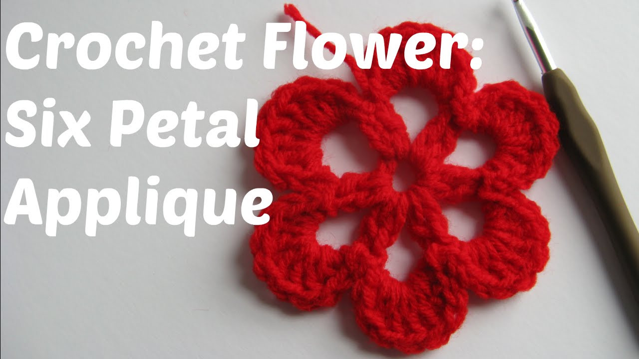 Awesome Crochet Flower Tutorial Six Petal Applique Beginner Youtube Crochet Tutorial Videos Of Lovely 41 Photos Youtube Crochet Tutorial Videos