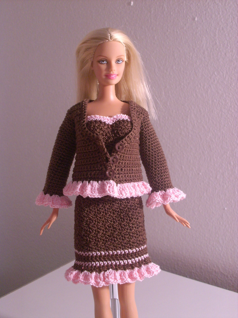 Awesome Crochet for Barbie the Belly button Body Type Chocolate Barbie Doll Patterns Of Superb 40 Pics Barbie Doll Patterns