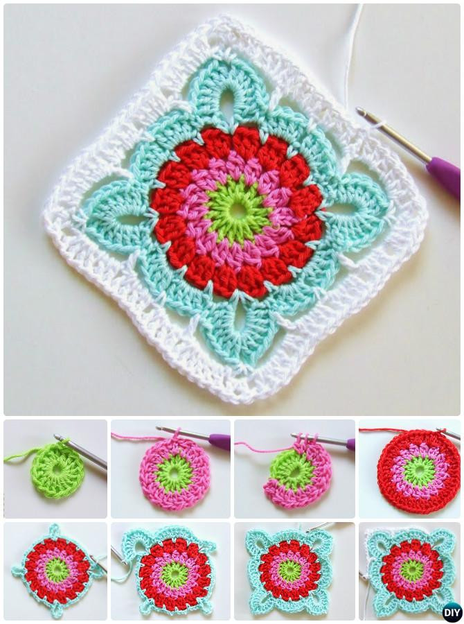 Awesome Crochet Granny Square Free Patterns Crochet Flower Granny Square Of Fresh 47 Pictures Crochet Flower Granny Square