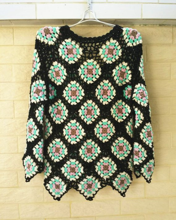 Awesome Crochet Granny Square Sweater Long Sleeve Women Jumpers Granny Square Sweater Of Superb 45 Photos Granny Square Sweater