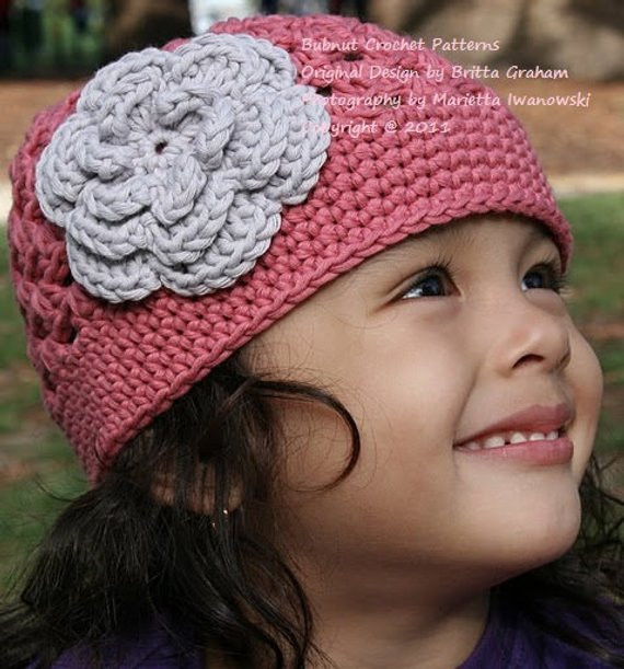 Awesome Crochet Hat Pattern Flower Power Cap Crochet Pattern No 201 toddler Crochet Hat Pattern with Flower Of Luxury 50 Ideas toddler Crochet Hat Pattern with Flower
