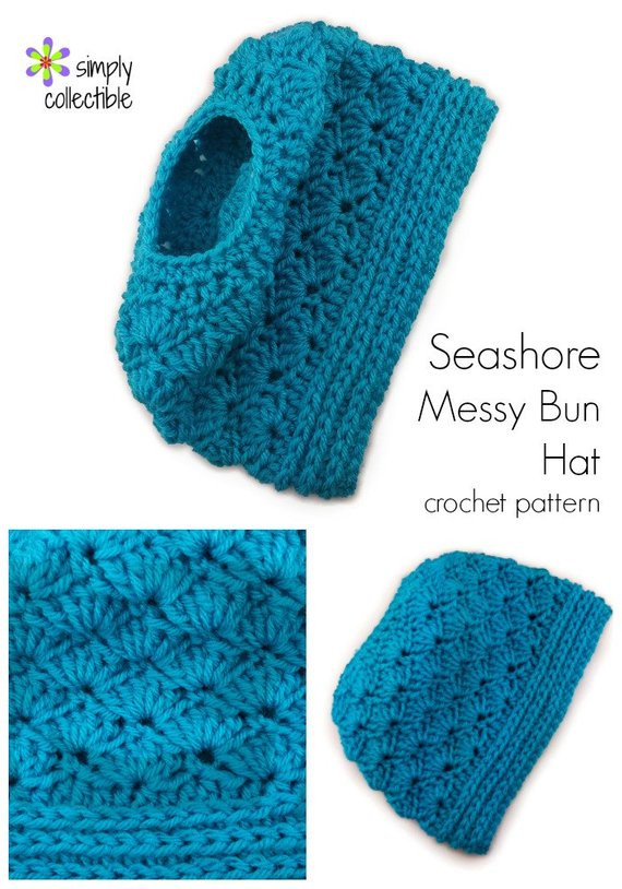 Awesome Crochet Hat Pattern Seashore Messy Bun Hat Crochet Pattern Messy Bun Beanie Crochet Pattern Of Adorable 45 Pics Messy Bun Beanie Crochet Pattern