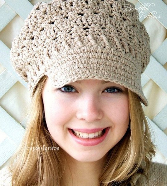 Awesome Crochet Hat Pattern Womens Newsboy Hat Slouchy Hat Slouch Ladies Crochet Hats Of Contemporary 46 Pics Ladies Crochet Hats
