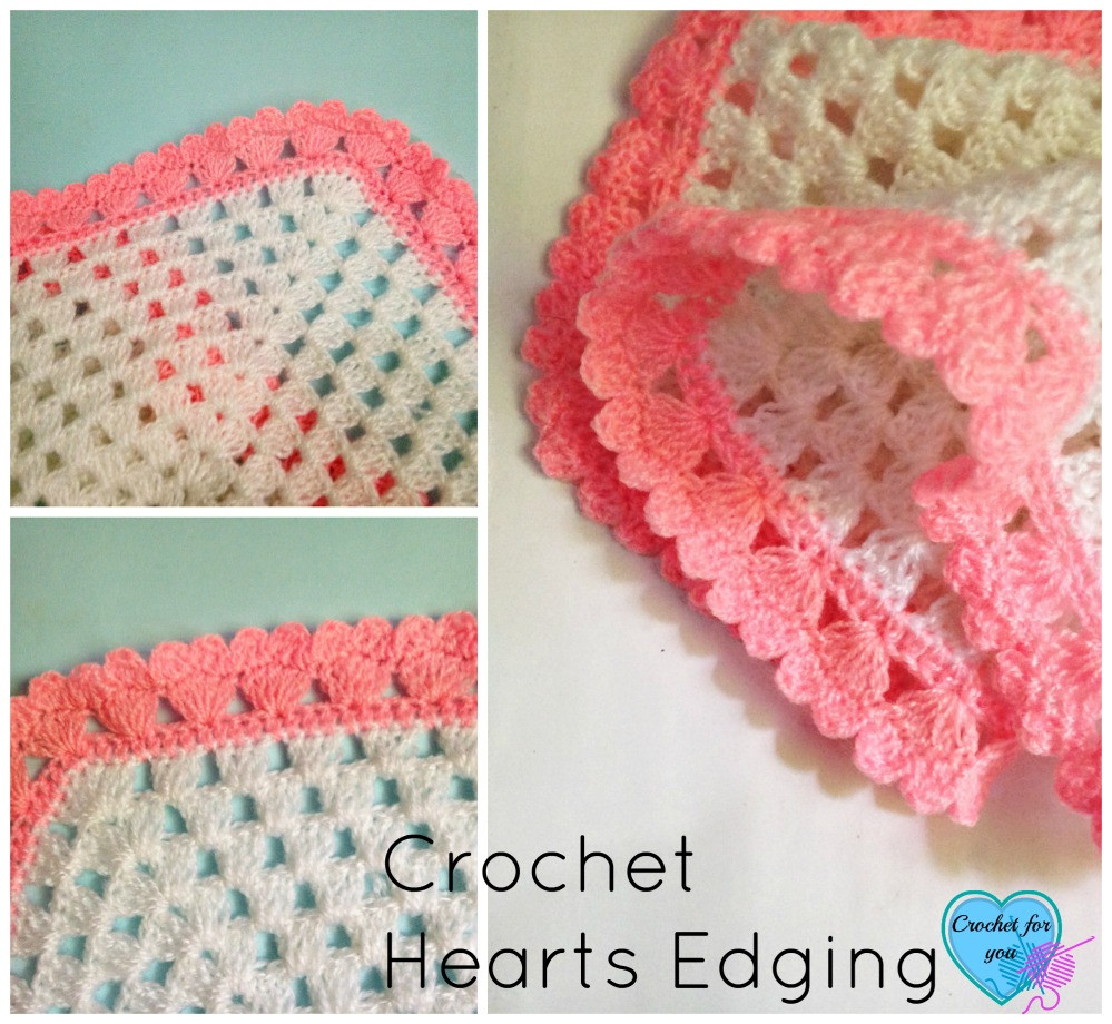 Awesome Crochet Hearts Collar and Edging Crochet for You Crochet Edging for Baby Blanket Of Awesome 47 Pictures Crochet Edging for Baby Blanket