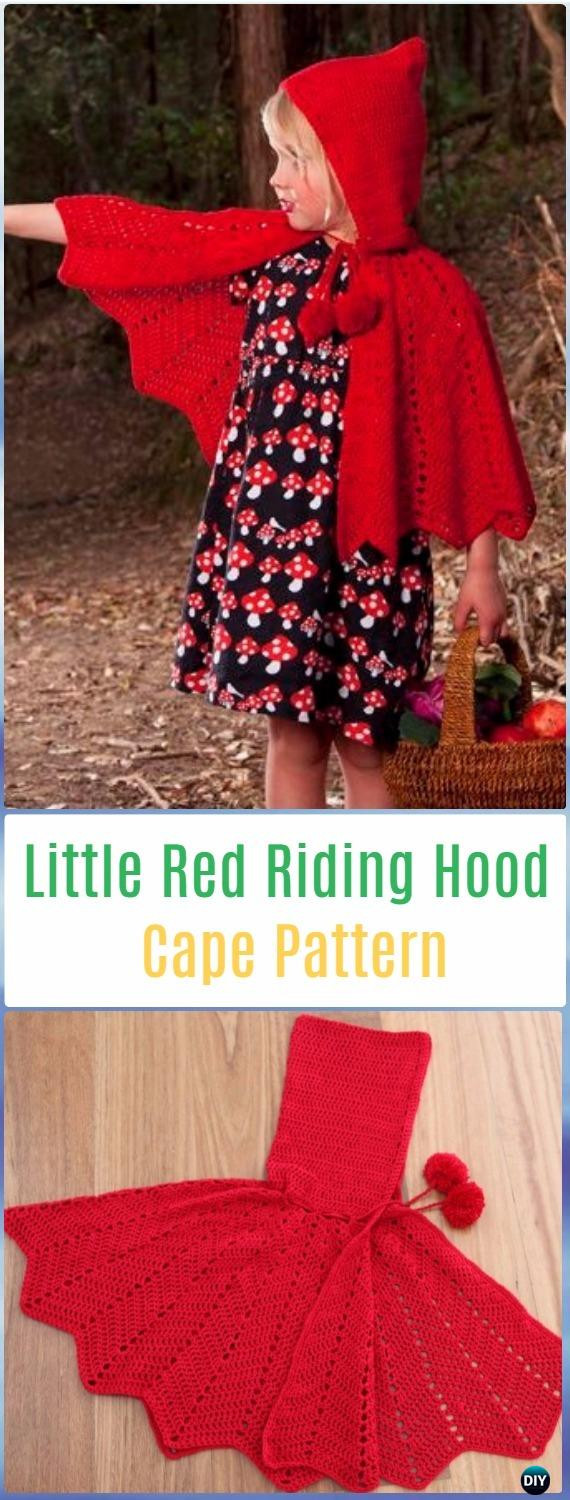 Awesome Crochet Kids Capes & Poncho Free Patterns Instructions Red Riding Hood Cape Pattern Of Charming 43 Pictures Red Riding Hood Cape Pattern