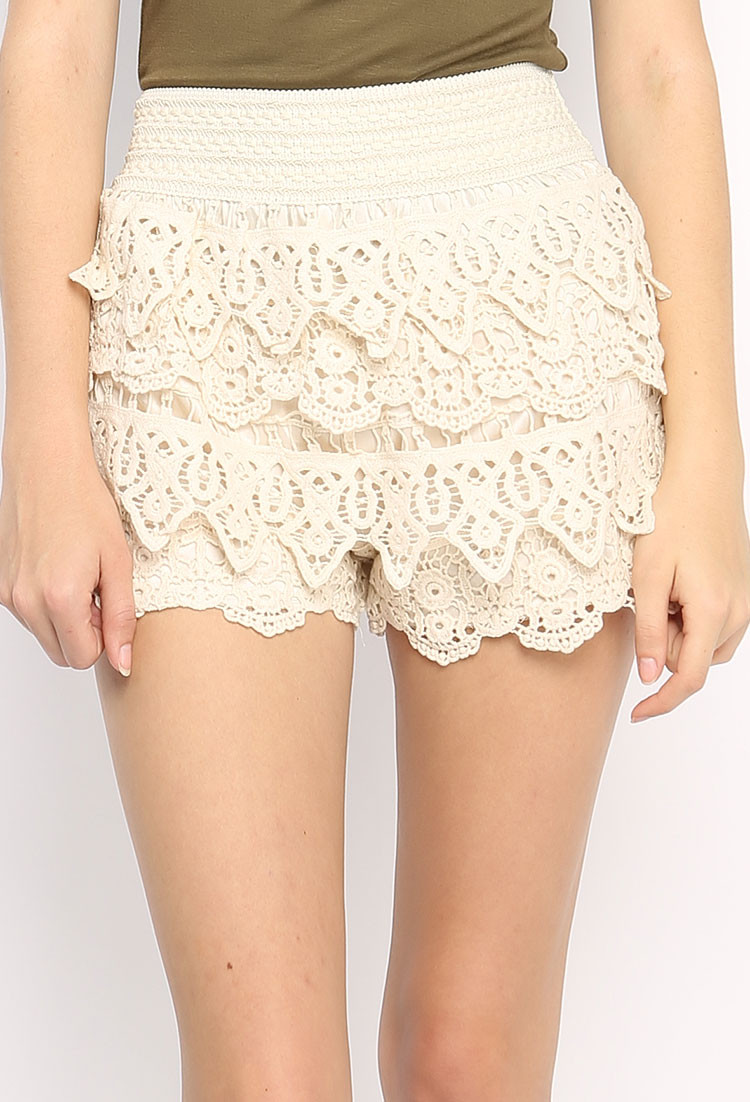 Awesome Crochet Lace Layer Shorts Crochet Lace Shorts Of Unique 47 Photos Crochet Lace Shorts