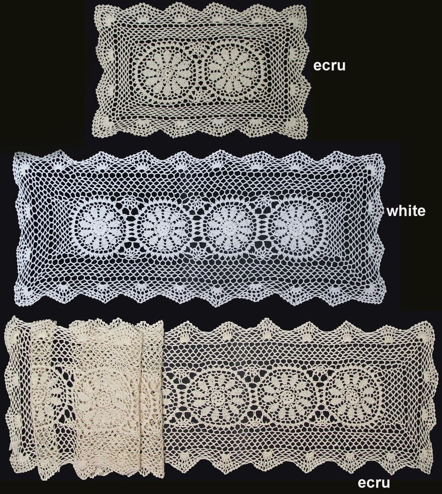 """Awesome Crochet Lace Placemat Table Runner 14×20"""" 14×36"""" 14×54 Crochet Table Runners Of Gorgeous 50 Models Crochet Table Runners"""