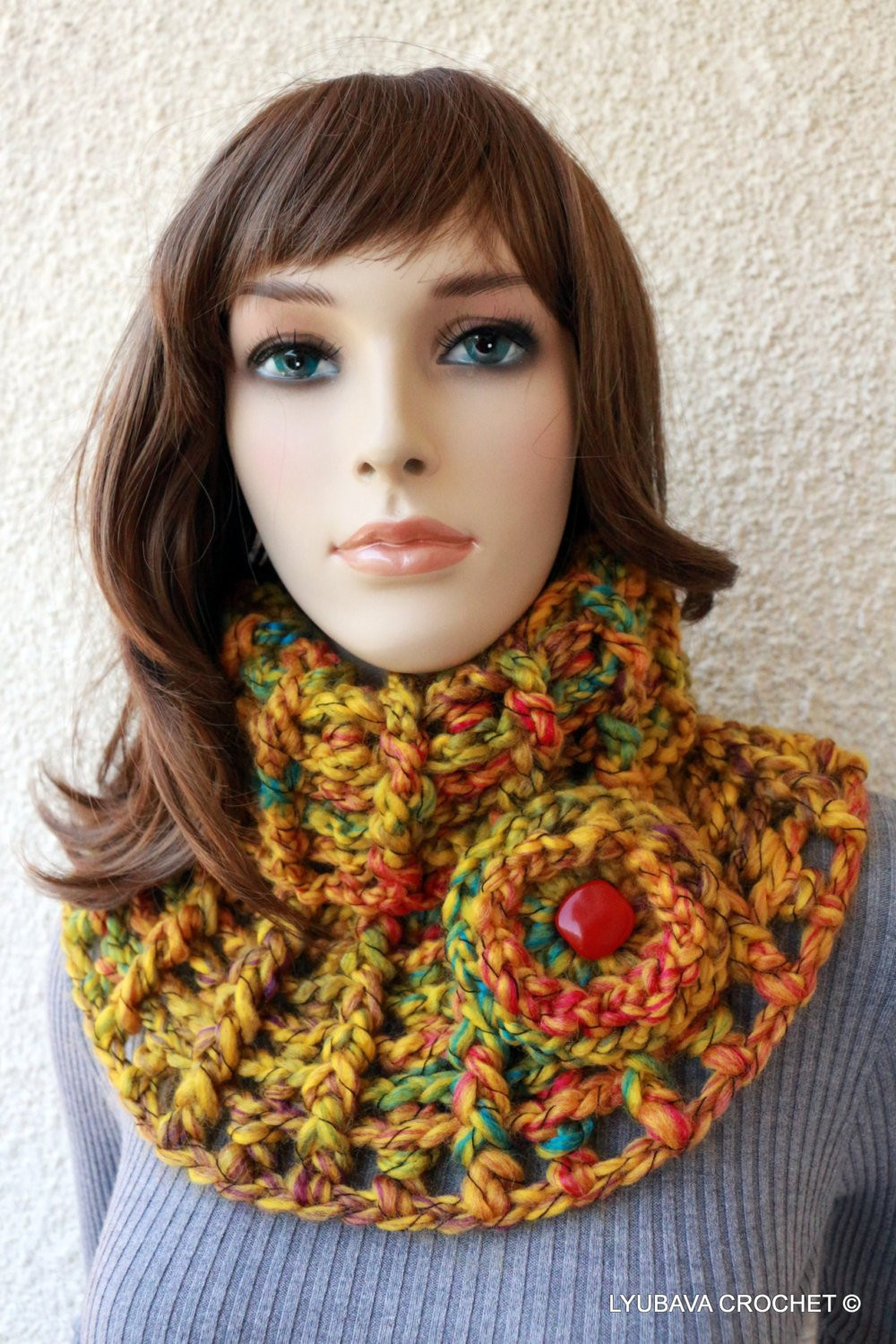 Awesome Crochet Neck Warmer Crochet Cowl Scarf by Crochetedbylyubava Crochet Cowl Neck Scarf Of Superb 49 Models Crochet Cowl Neck Scarf