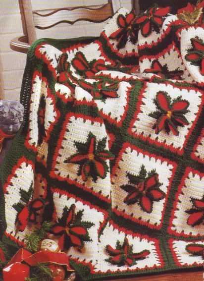 Awesome Crochet Pattern Afghan Blanket Throw Christmas Poinsettia Christmas Afghan Crochet Pattern Of Incredible 40 Ideas Christmas Afghan Crochet Pattern