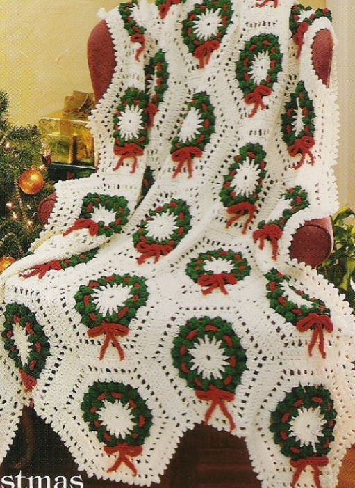 Awesome Crochet Pattern Afghan Throw Blanket Cosy Christmas Holly Crochet Christmas Afghan Of Contemporary 48 Pics Crochet Christmas Afghan