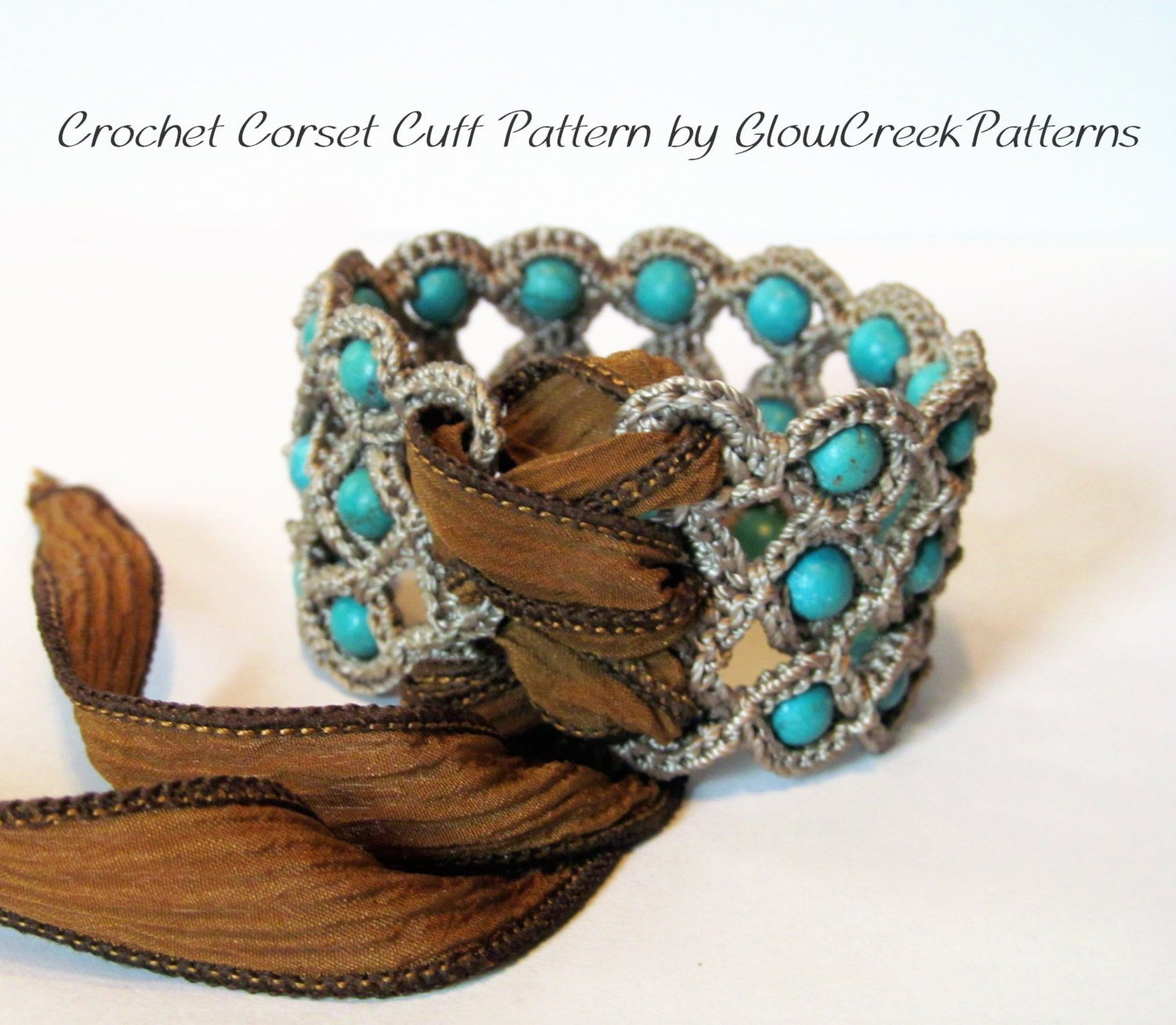 Awesome Crochet Pattern Corset Cuff Bracelet Crochet Jewelry Crochet Beaded Bracelet Pattern Of Brilliant 49 Images Crochet Beaded Bracelet Pattern