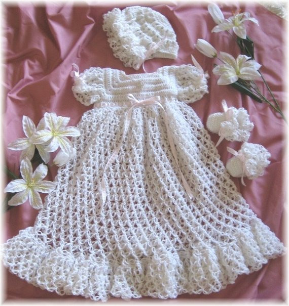 Awesome Crochet Pattern for Baby Christening Gown Bonnet and Christening Dress Patterns Of Awesome 43 Ideas Christening Dress Patterns