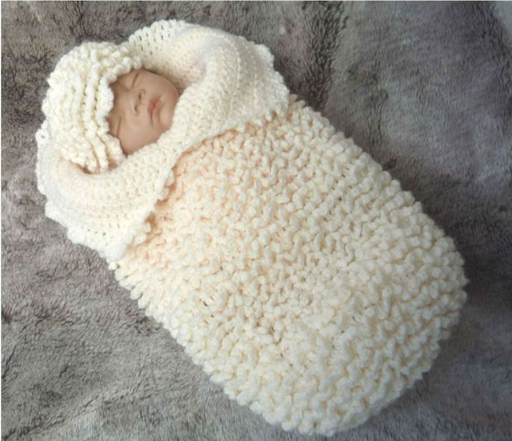 Awesome Crochet Pattern for Baby Cocoon Papoose & Hat 127 by Baby Cocoon Pattern Of Fresh 45 Images Baby Cocoon Pattern