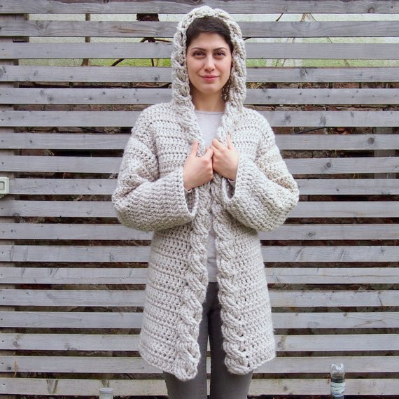 Awesome Crochet Pattern Hooded Cable Women Sweater Cardigan Bulky Crochet Hooded Sweater Pattern Of Great 48 Pictures Crochet Hooded Sweater Pattern