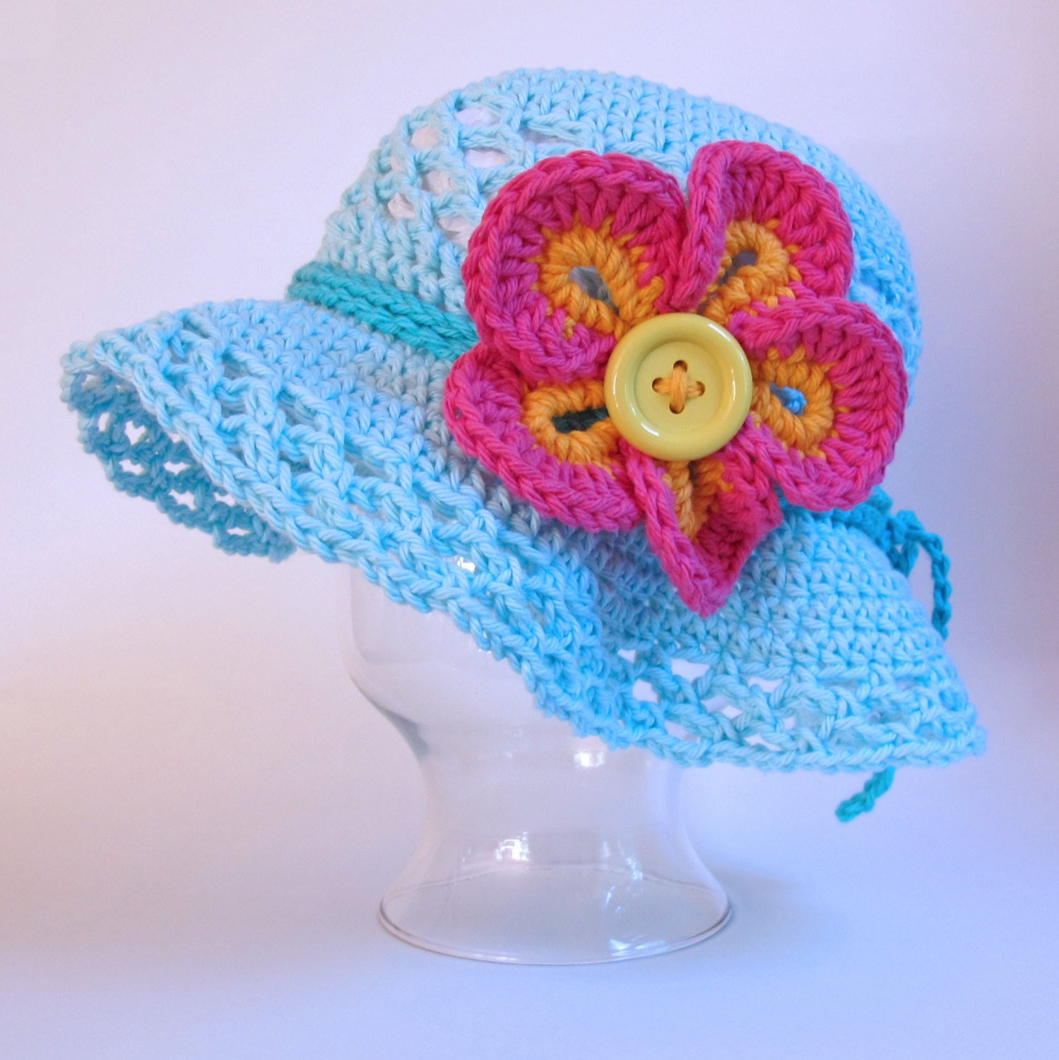 Awesome Crochet Pattern island Girl Crochet Sun Hat Pattern W toddler Crochet Hat Pattern with Flower Of Luxury 50 Ideas toddler Crochet Hat Pattern with Flower