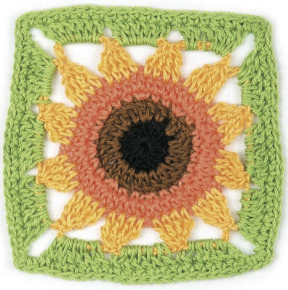 Awesome Crochet Pattern Sunflower by May Corfield Crochet Sunflower Granny Square Of Delightful 41 Images Crochet Sunflower Granny Square