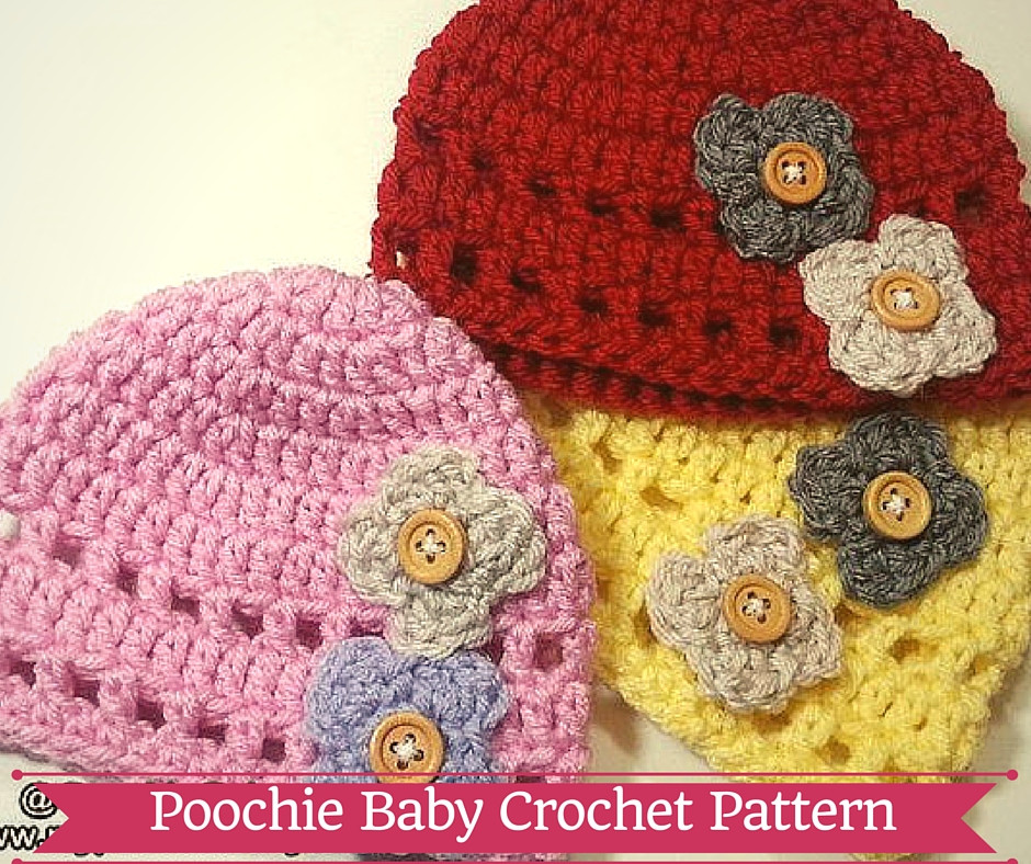 Awesome Crochet Patterns Hats with Flowers Dancox for Crochet Flower for Baby Hat Of Beautiful 42 Ideas Crochet Flower for Baby Hat