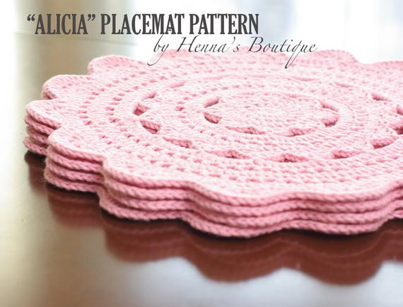Awesome Crochet Placemat Pattern Alicia Placemats Pdf Crochet Placemat Of Top 40 Pics Crochet Placemat