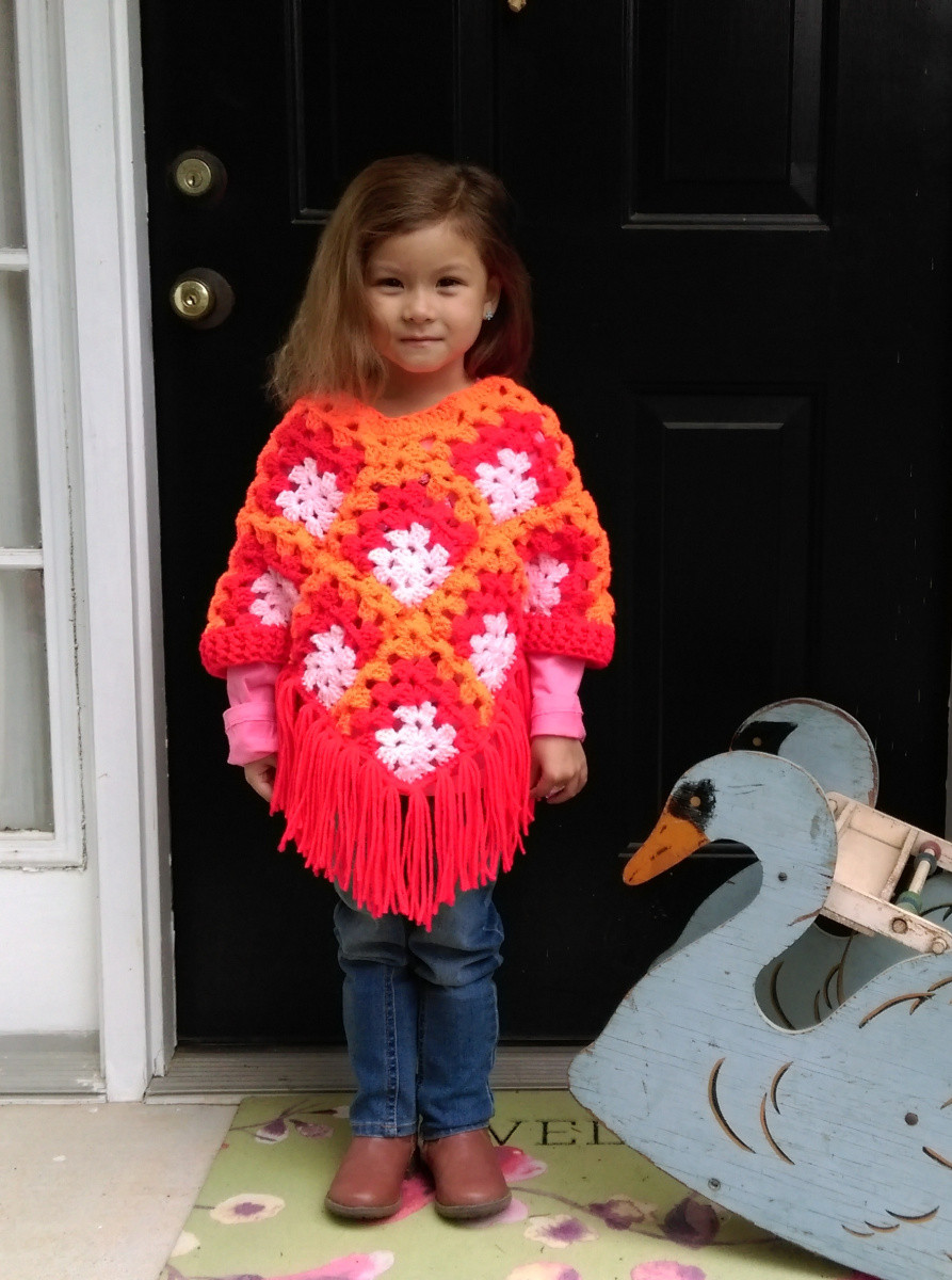 Awesome Crochet Poncho Pattern for Girls – Knotted Mom Girls Crochet Poncho Pattern Of Incredible 49 Pictures Girls Crochet Poncho Pattern