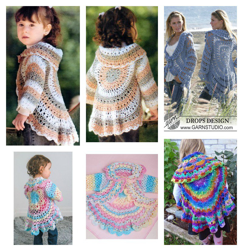 Awesome Crochet Pretty Circle Jacket with Pattern Crochet Jackets Patterns Of Top 44 Photos Crochet Jackets Patterns