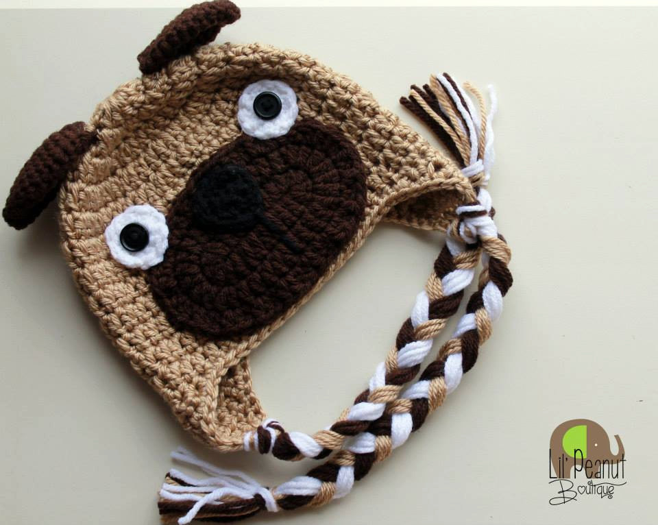 Awesome Crochet Pug Hat Puppy Dog Hat for Baby toddler Child Crochet Dog Hat Of Marvelous 45 Pictures Crochet Dog Hat