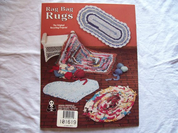 Awesome Crochet Rag Bag Rugs Pattern Book Fabric Strip by Crochet Rug with Fabric Strips Of Adorable 46 Images Crochet Rug with Fabric Strips