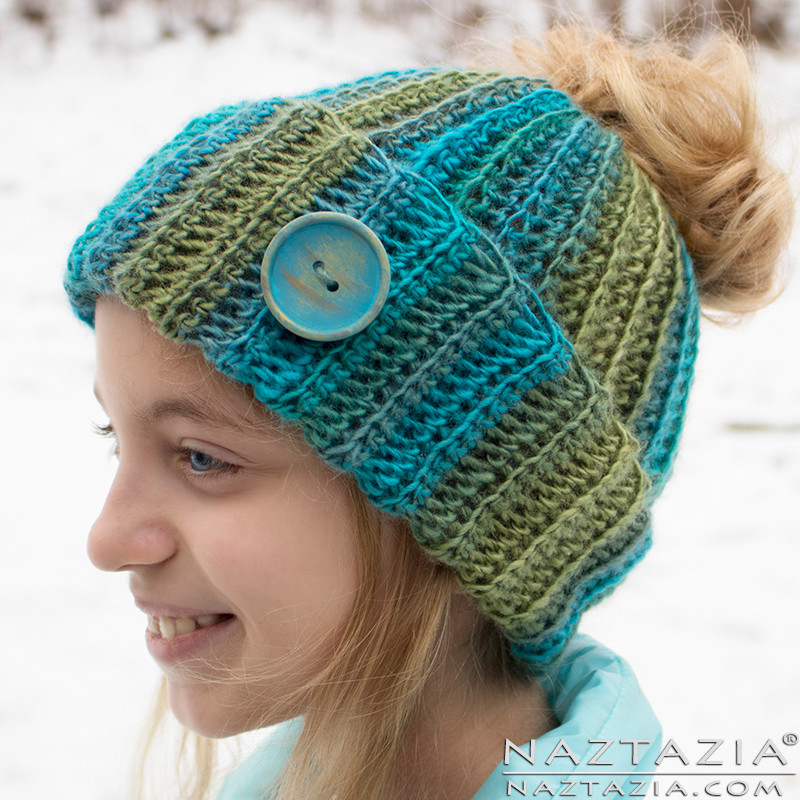 Awesome Crochet Ribbed Bun Hat by Donna Wolfe From Naztazia Free Crochet Pattern for Messy Bun Hat Of Beautiful 47 Ideas Free Crochet Pattern for Messy Bun Hat