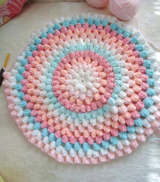 Awesome Crochet Round Baby Blanket Pretty Colors Round Crochet Blanket Of Fresh 46 Models Round Crochet Blanket