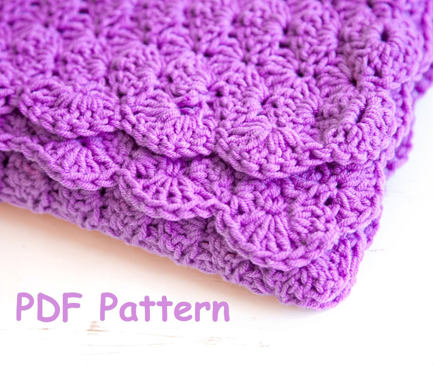 Awesome Crochet Shell Stitch Baby Blanket Pattern Easy Crochet for Shell Pattern Crochet Baby Blanket Of Beautiful 41 Pics Shell Pattern Crochet Baby Blanket