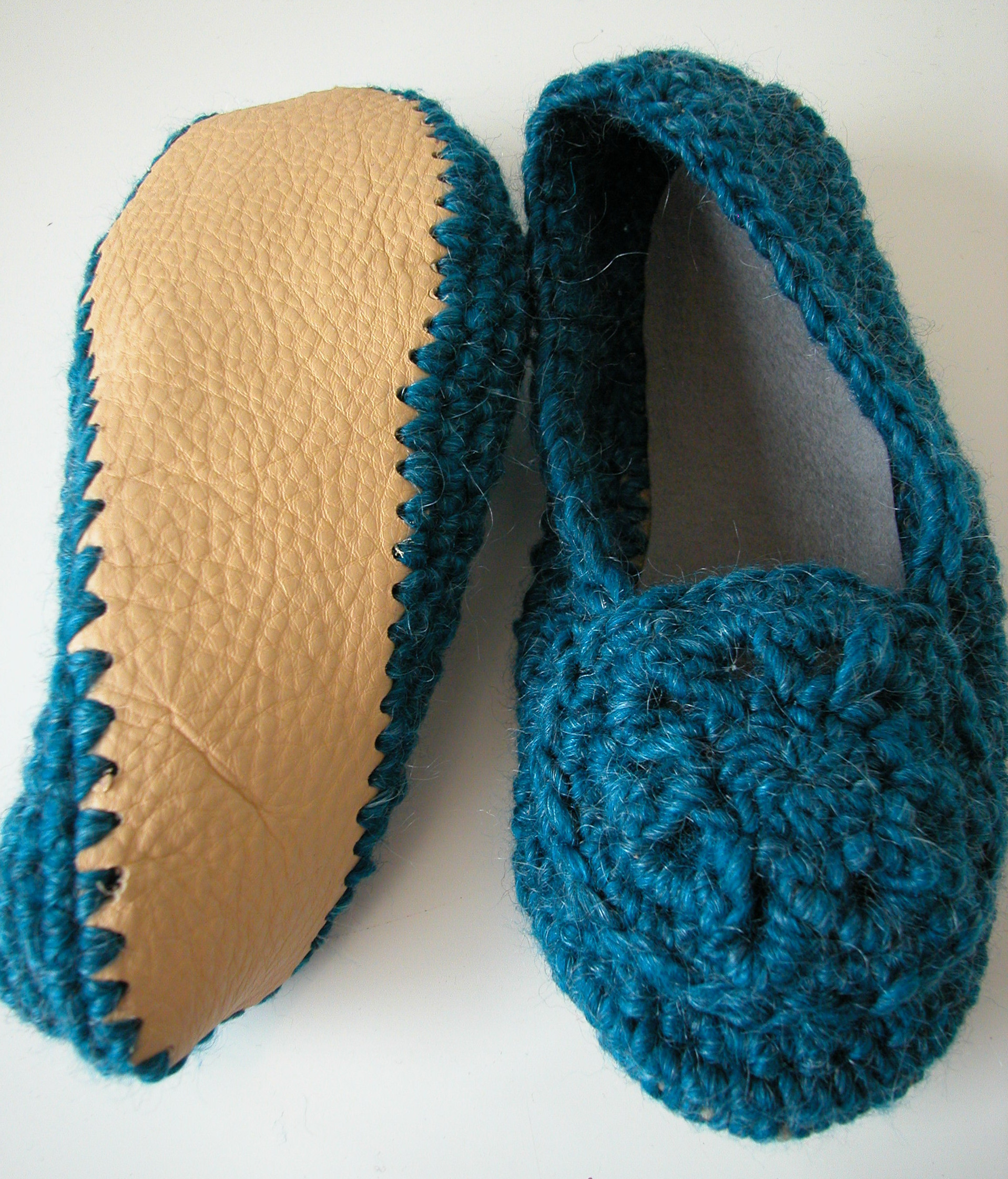 crochet soles for slippers Crochet and Knit