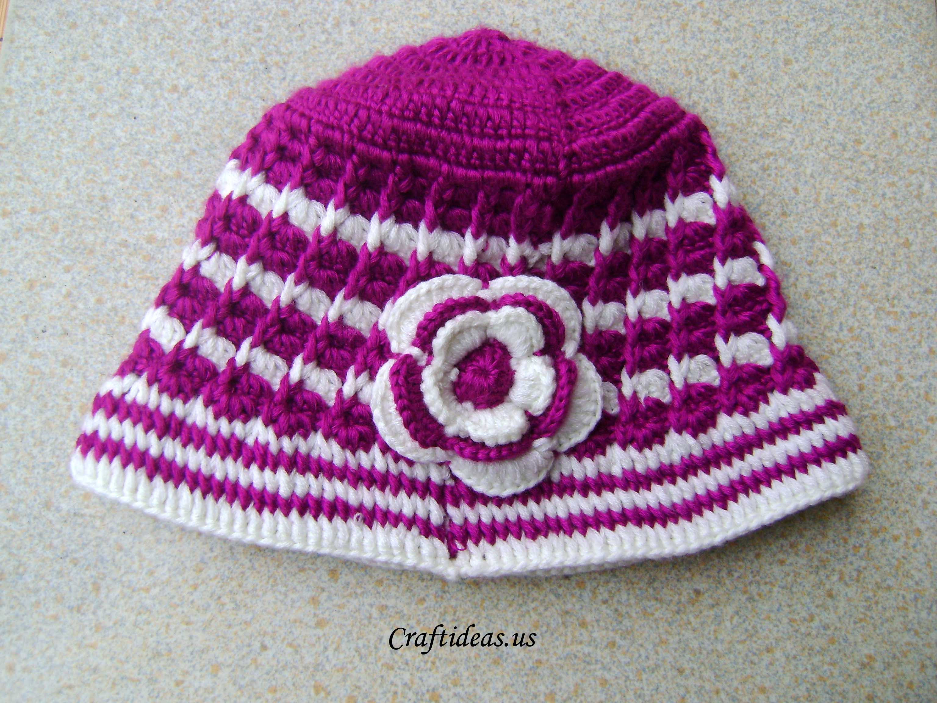 Awesome Crochet Spring Hat for La S Craft Ideas Crochet Hat Tutorial Of Amazing 45 Ideas Crochet Hat Tutorial