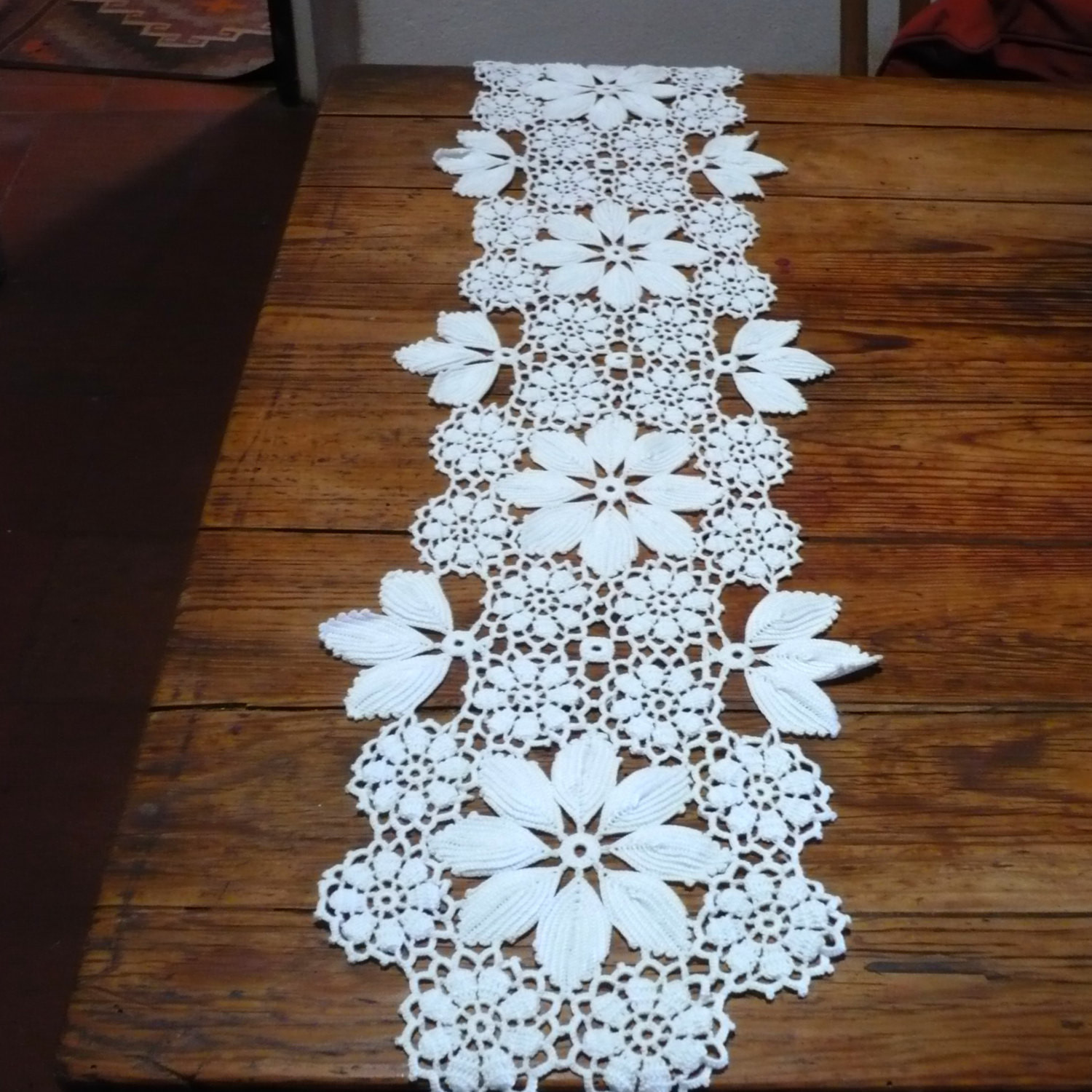 Awesome Crochet Table Runner Vintage Portuguese Crochet Table Center Crochet Table Runner Of Amazing 46 Images Crochet Table Runner