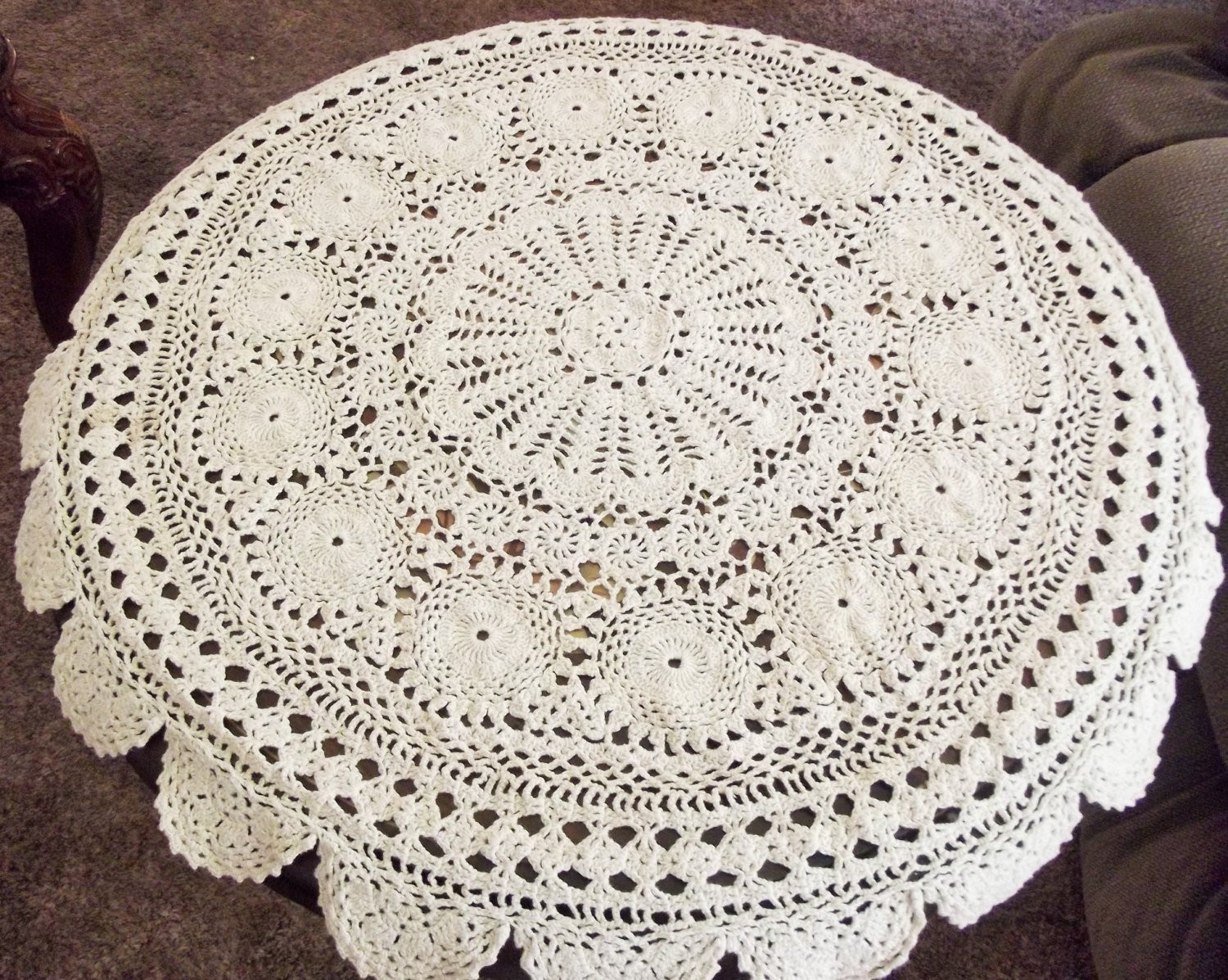 Awesome Crochet Tablecloth Vintage Linen Table Cover Round White Crochet Tablecloth for Sale Of Delightful 42 Ideas Crochet Tablecloth for Sale