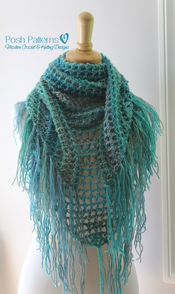 Awesome Crochet Triangle Scarf Pattern Triangle Scarf Crochet Pattern Of Marvelous 44 Photos Triangle Scarf Crochet Pattern