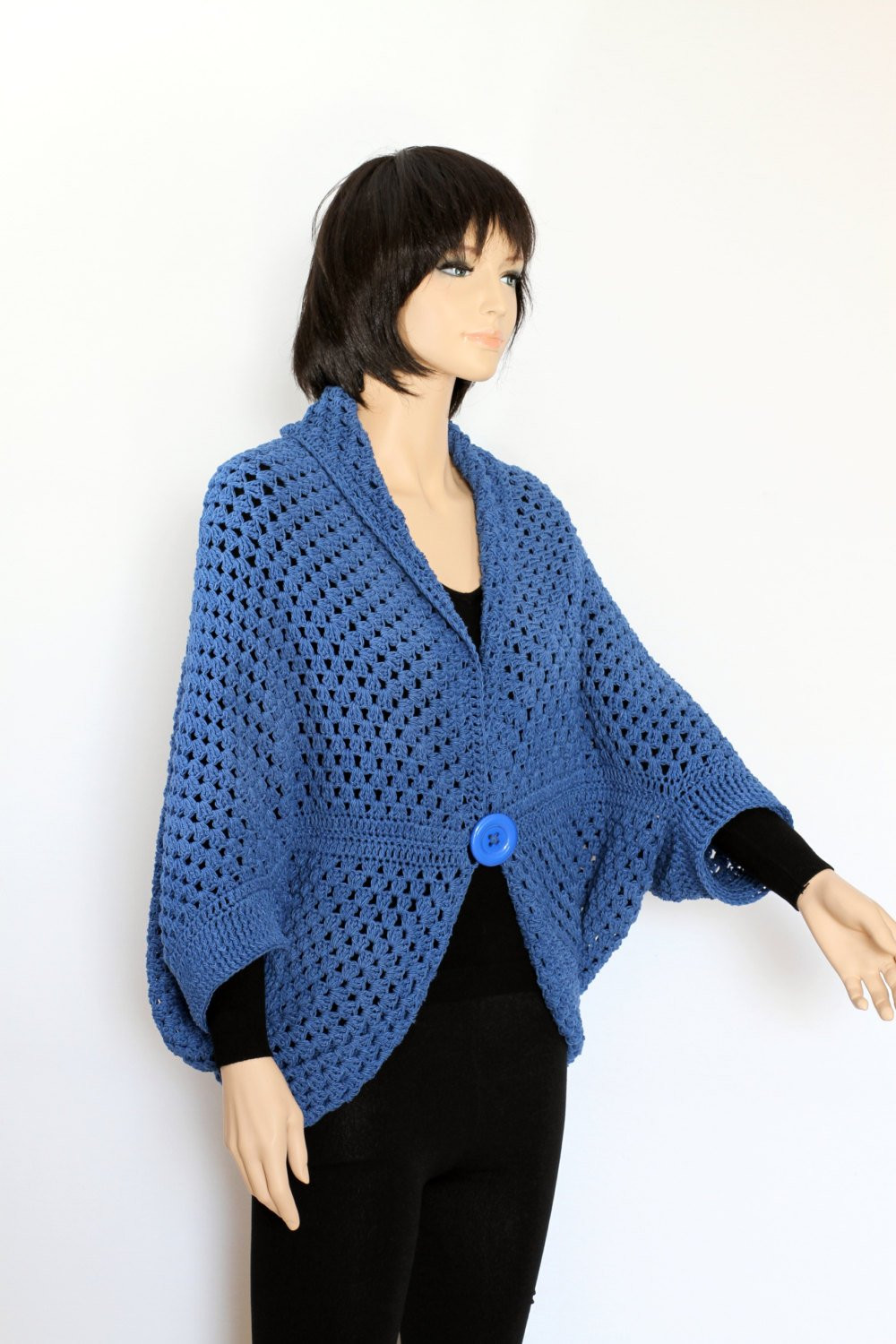 Crochet Vest Sweater pattern Cocoon shrug pattern poncho cape