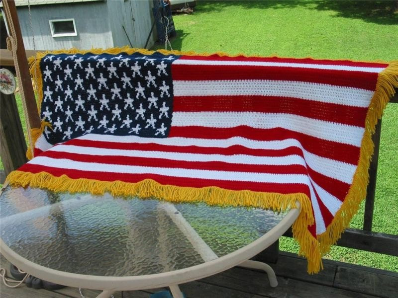 Awesome Crocheted American Flag Blanket Throw Wall Decor Made Fresh American Flag Crochet Blanket Of Gorgeous 42 Ideas American Flag Crochet Blanket