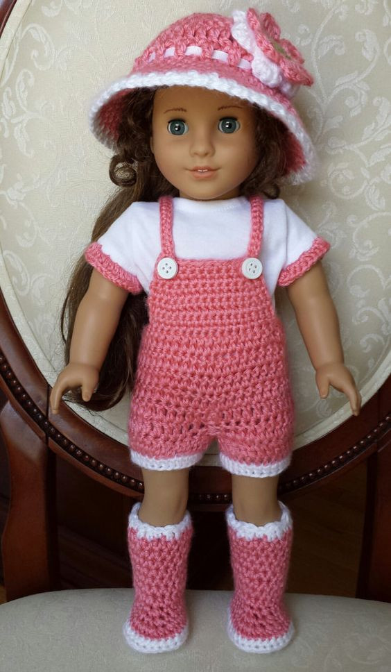 """Awesome Crocheted American Girl 18"""" Doll Spring Outfit Clothes Free Crochet Patterns for American Girl Dolls Clothes Of Adorable 50 Pictures Free Crochet Patterns for American Girl Dolls Clothes"""
