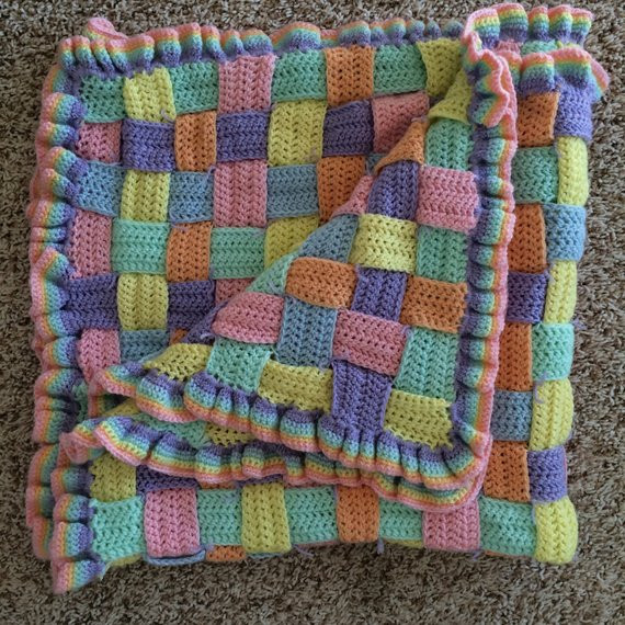 Awesome Crocheted Basket Weave Blanket Basket Weave Blanket Of Amazing 45 Models Basket Weave Blanket