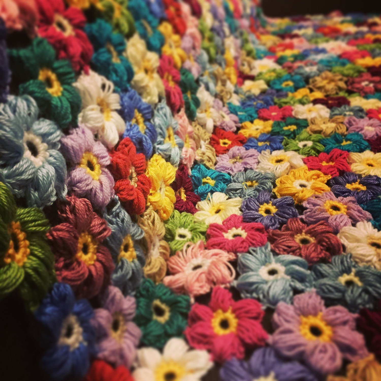 Awesome Crocheted Colorful Flower Afghan Blanket Throw Made to Crochet Flower Blanket Of Wonderful 43 Models Crochet Flower Blanket