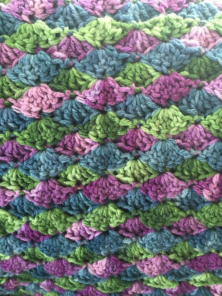 Awesome Crocheted Mermaid Blanket Bjs Pet Projects Variegated Yarn Crochet Of Incredible 46 Images Variegated Yarn Crochet